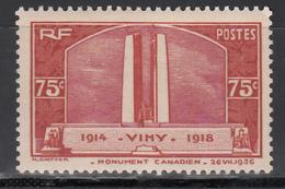 1936 Yvert Nº 316   MNH - Francia