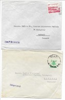 Lebanon 2 Covers Sent To Denmark. H-649 - Lebanon