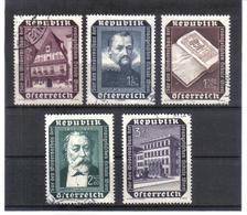 SOS781 ÖSTERREICH 1953  MICHL 989/93 Used / Gestempelt SIEHE ABBILDUNG - 1945-60 Gebraucht