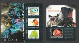 ST693 2014 GUINEE GUINEA NATURE GEOLOGY MINERALS LES MINERAUX KB+BL MNH - Minerals