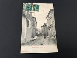 PEYRUS Grande Rue - 1908 Timbrée - Frankreich