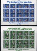 """LIECHTENSTEIN AÑO 1981, SERIE IVERT 707/10 """" ESCUDO DE ARMAS """" EN PLIEGOS,    MNH. - Liechtenstein"""