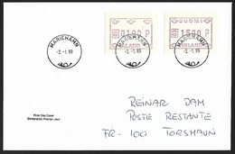1989 - ALAND & SUOMI - FDC + Michel 3x+5x - MARIEHAMN - Aland