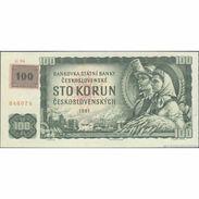 TWN - CZECH REPUBLIC 1c - 100 Korun Ceskych 1961 (1993) Series G 96 - Adhesive Stamp On CZECHOSLOVAKIA 91c UNC - Czech Republic