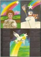 1960 Spagna Spain Serie Di 3 Cartoline Nuove - Fantasia