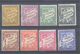 Año 1926 Nº 18/26 Tipografias (sin Nº 22) - Taxe