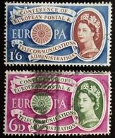 1960 Grande Bretagne Yt 357, 358   Europa (C.E.P.T.) 1960 - Wheel Oblitérés Used - 1952-.... (Elizabeth II)