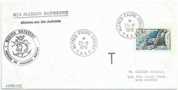 YT 57 - Otarie Femelle - Posté à Bord Du MD - Alfred Faure - Crozet - 25/08/1976 - Terres Australes Et Antarctiques Françaises (TAAF)