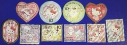 Japon 2016 7556 7565 Personnage Compagnie Sanrio Hello Kitty My Melody Pompompurin  Photo Non Conventionnelle - 1989-... Empereur Akihito (Ere Heisei)
