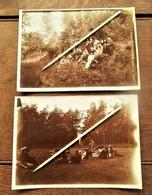 2 Stuks OUDE Foto's Van Personen Begin 1900 In De Natuur - Persone Anonimi
