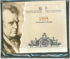 NUMISMATICA - ANNO 1995 - RARA EMISSIONE DIVISIONALE 11 VALORI PIETRO MASCAGNI Confezione Zecca GRIGIA - Tiratura 44.558 - 1946-… : Republic