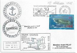YT 476 - île Europa - Lettre Postée à Bord De L'Osiris - Secap D'Alfred Faure - Crozet - 29/11/2008 - Lettres & Documents