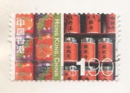 CANETTES DE SODAS ET JUS DE FRUIT - TIMBRE DE CHINE  HONG KONG DE 2002, VOIR LE SCANNER - Used Stamps