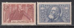 1936 Yvert Nº 318 / 319   MNH - Francia