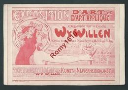 Bruxelles. Expo D'Art Apliqué. Ecole  De Dessin De Molenbeek St.Jean. 1898 F. Dricot. Style Mucha. 2 Scans. - Non Classés