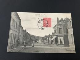 1 - AQUIGNY Route D'Evreux - 1907 Timbrée - Acquigny