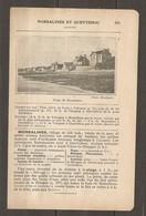1924 MORSALINES ET QUETTEHOU (50) - CHEMIN DE FER ETAT 343 KM DE PARIS A VALOGNES PUIS Ch. DE FER DEPARTEMENTAL - Railway
