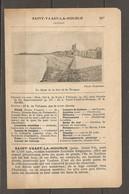 1924 SAINT VAAST LA HOUGUE (50) - CHEMIN DE FER ETAT 343 KM DE PARIS A VALOGNES PUIS Ch. DE FER DEPARTEMENTAL - Railway