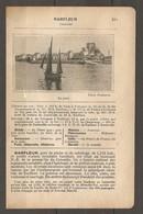 1924 BARFLEUR MANCHE (50) - CHEMIN DE FER ETAT 343 KM DE PARIS A VALOGNES PUIS Ch. DE FER DEPARTEMENTAL - Railway