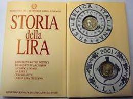 ITALIA REPUBBLICA 2001 DITTICO STORIA DELLA LIRA 3° SERIE FDC - Commemorative