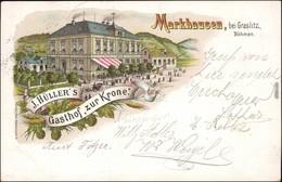 Markhausen (Hraničná )-Graslitz Kraslice Gasthof Zur Krone B Eger Cheb 1906 - Tchéquie