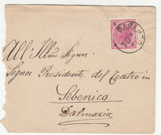Austria Croatia Letter Cover Travelled 1896 Compagnia Lirica ... Rafaelo Faini Parenzo To Sebenico B190601 - Croatia