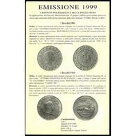 ITALIA REPUBBLICA 1999 DITTICO STORIA DELLA LIRA 1° SERIE FDC - Commemorative
