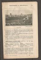 1924 MONTMARTIN ET REGNEVILLE (50) - CHEMIN DE FER ETAT 343 KM DE PARIS PAR FOLLIGNY - ORVAL HYENVILLE - Railway