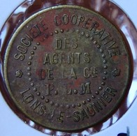 Jura (39) Lons Le Saunier 1 Franc Des Agents De La Cie PLM - Monétaires / De Nécessité