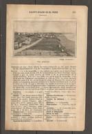 1924 SAINT PAIR SUR MER MANCHE (50) - CHEMIN DE FER ETAT 328 KM DE PARIS PUIS Ch. DE FER DEPARTEMENTAL - Railway