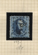 VARIETE N°15 Griffe Oblique Traversant Verticalement Tout Le Visage Du Roi à Droite. Obl. LP 3 ALOST - 1863-1864 Medaillen (13/16)