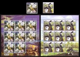 Ukraine 2019 Set Full Sheet + Stamp EUROPA CEPT National Birds Of Ukraine #215 - Ukraine