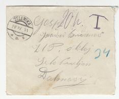 Austria Montenegro Letter Cover Travelled 1911 Zelenika To Oklaj - Taxed B190601 - Montenegro