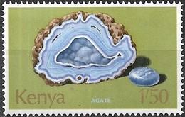 KENYA 1977 Minerals - 1s50 Agate MNH - Kenya (1963-...)