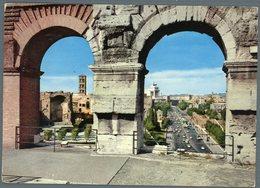 °°° Cartolina N. 156 Roma Via Dei Fori Imperiali Dal Colosseo Viaggiata °°° - Roma (Rome)