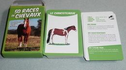 Rare Boite De Cartes De Collection, 50 Races De Chevaux, Illustrations Caractéristiques Description Origines Cheval - Autres Collections