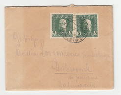 Bosnia KuK Austria Letter Travelled 1915 Sarajevo To Dubrovnik B190601 - Bosnia And Herzegovina