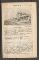 1924 JULLOUVILLE MANCHE (50) - CHEMIN DE FER ETAT 328 KM DE PARIS A GRANVILLE PUIS Ch. DE FER DEPARTEMENTAL - Chemin De Fer