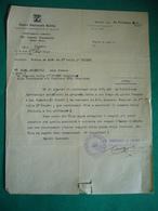 1934 OPERA NAZIONALE BALILLA  COMITATO DI MILANO  ORIGINALE LETTERA DATTILOSCRITTA  CON TIMBRO E FIRMA - Documenti