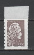 FRANCE / 2018 / Y&T N° AA 1595 ** : Marianne D'YZ (adhésif De Feuille) 0.05 € X 1 - état D'origine - Autoadesivi