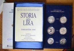 ITALIA REPUBBLICA 1999/2000/2001 - 1 Lira Storia Della Lira FONDO SPECCHIO - PROOF - INCLUSO COFANETTO BLU FLOCCATO - Commemorative