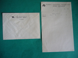 GUARDIA NAZIONALE REPUBBLICANA  LEGIONE TAGLIAMENTO REPUBBLICA SOCIALE LETTERA E BUSTA INTESTATA - Documenti