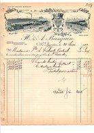 1910 FACTURE H. & A. BASQUIN BRODERIES à SAINT QUENTIN AISNE - 1900 – 1949