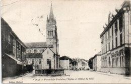 VINAY - Place De La Fontaine - L' Eglise Et  L' Hotel De Ville (113980) - Vinay