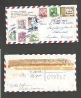 KOREA. 1960 (22 Aug) Seoul - Sweden, Malmo. Air Multifkd Env. Very Nice Card + Flags. - Korea (...-1945)