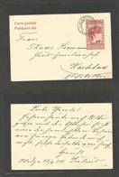 BOSNIA. 1911 (13 Sept) Ilidze - Germany, Karlsbad. 10h Red Stat Card, Military Cachet. VF. - Bosnia And Herzegovina