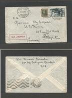 ETHIOPIA. 1937 (13 Feb) Italy Colony Period. Gondar - France, Paris. Air Multifkd Envelope. - Ethiopia