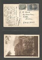 AUSTRIA - XX. 1922 (21 Aug) Moezg - UK, Sutton, Surrey. Fkd Multifkd Ppc, Name Town Cds Grill. Fine. - Österreich