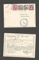 "SALVADOR, EL. 1935 (19-25 Sept) Salvador - Switzerland, Herisau. 1c Lilac Stat Card + 3 Adtl Violet Slogan Cachet. ""Tome - El Salvador"