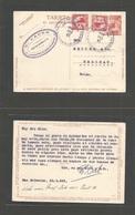 SALVADOR, EL. 1935 (23 Jan) S. Salvador - Swizerland, Herisau 2c Red Stationary Card + 2 Adtls, Cds. VF + Scarce Usage. - El Salvador